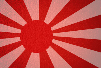Japanese navy in red and white.