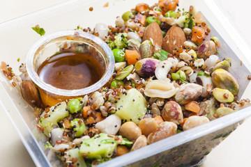 legume salad with almonds