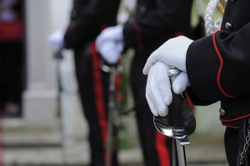 dettaglio di uniforme - carabiniere