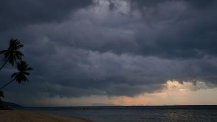 Dark Storm Clouds over Palm Beach.