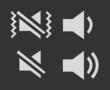 Set of battery speaker sign