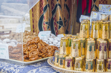 Moroccan sweets at tea time