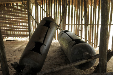 Native American drums in Peruvian Amazonas