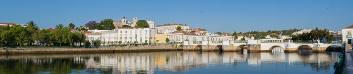 panoramic view of the historic city Tavira, in Algarve, Portugal