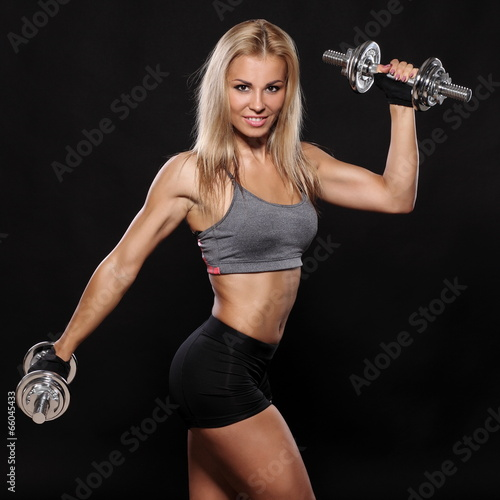 Fitness and Exercise Female Bodybuilder - 66045433