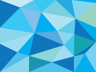 Simple blue abstract prism background