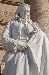 Rome - Statue of Giambattista Vico from Palazzo di Giustizia