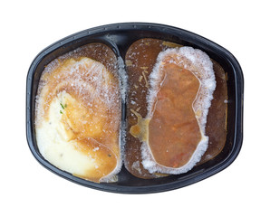 Potatoes and Meat Loaf Frozen TV Dinner