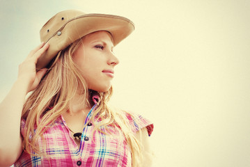 Beautiful woman. Cowgirl