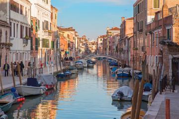 Venice - Fondamenta dei Riformati street and canal.