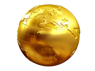 golden Globe with europe and africa