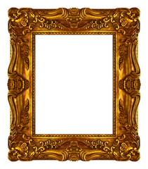 Alter Bilderrahmen in Goldfarben