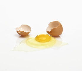 Runtergefallenes Ei
