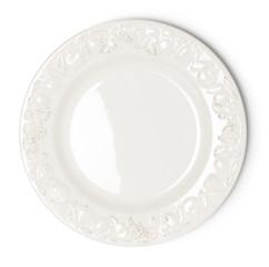 Vintage white empty plate
