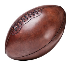leather vintage football