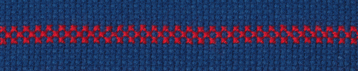 Cross-stitch border on aida fabric