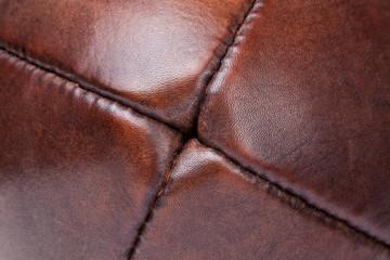 leather vintage football detail