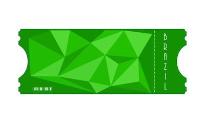 vector special ticket with triangle design, Eps10