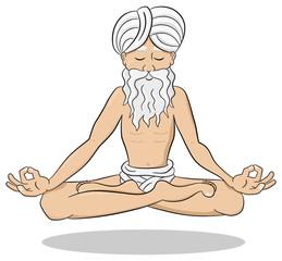 schwebender meditierender Yogi
