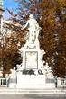 Mozart's statue in Hofburg Palace garden, Vienna, Austria