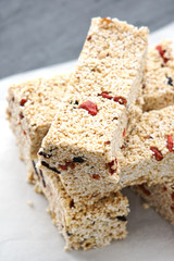 Homemade Goji berry, Cherry Amaranth bars