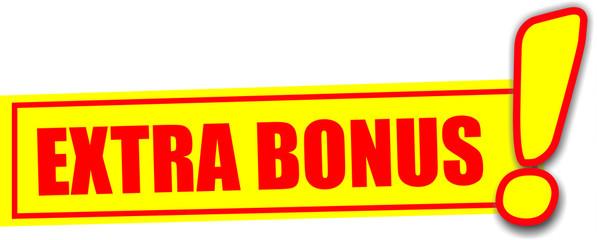 étiquette extra bonus