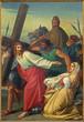 Leuven - Paint of scene Jesus and Veronica on the cross way.