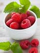 Fresh raspberry - frische Himbeeren