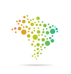 Brasil Circles Map image logo vector