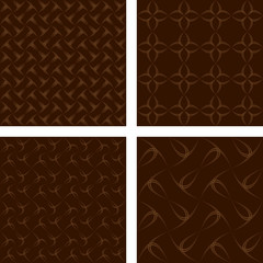 Brown seamless pattern background set