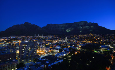 Devils Peak & Table Mountain at Night