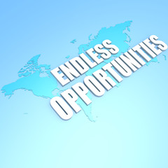 Endless opportunities world map