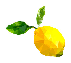 Polygonal Lemon Illustration