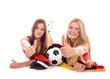 Zwei Fußballfans mit Daumen hoch