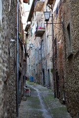 Cortona. Italy. Street of the old town.