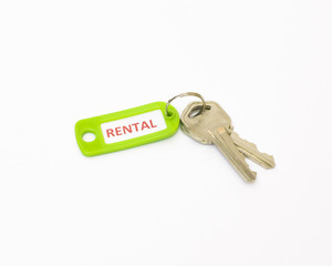 Isolated keys with Rental tag.