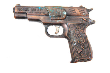 old metal gun toy
