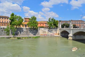 Rome. Tiber embankment