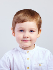 portrait of cute kid boy, four years old