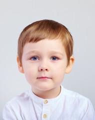 portrait of cute kid boy, four years old