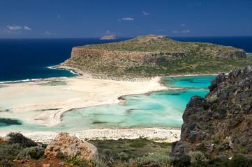 Weißer Sandstrand auf Kreta