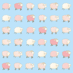 children's wallpaper with sheep