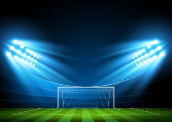 Football arena. Vector