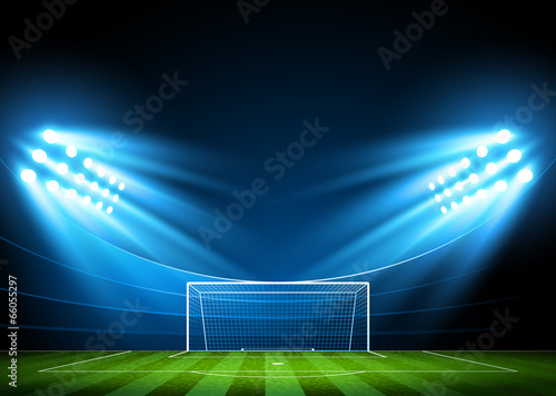 Football arena. Vector - 66055297