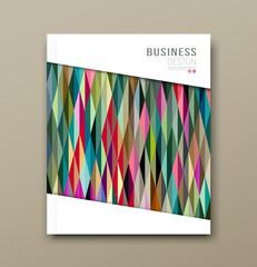 Cover Magazine geometric pattern design background