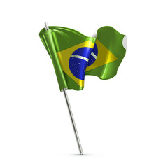 Flag of Brazil, vector