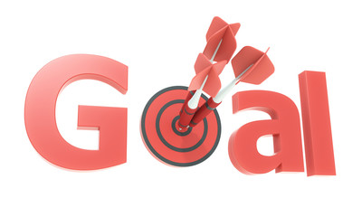 red arrow and goal text