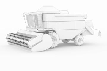 Harvester - white isolated
