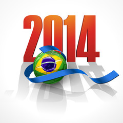 Soccer ball with brazil flag. Brazil 2014