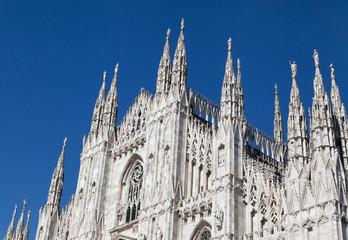 silhouette of Milan Cathedral (Duomo di Milano)